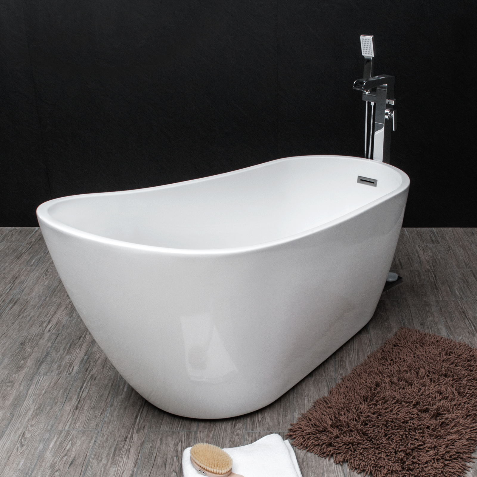Savisto Modern Bathroom Luxury Milano Contemporary Freestanding Slipper Bath Tub