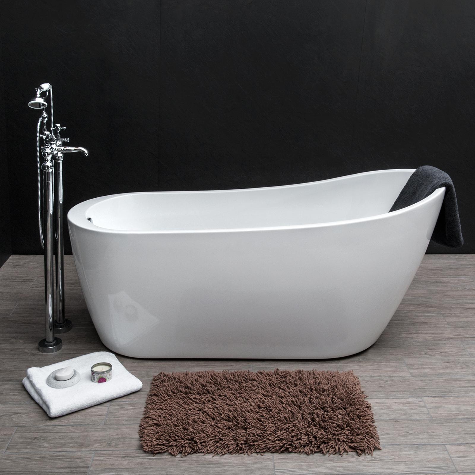 Savisto Modern Bathroom Luxury Trento Contemporary Freestanding Slipper Bath