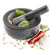 Savisto large granite pestle and mortar herb spice