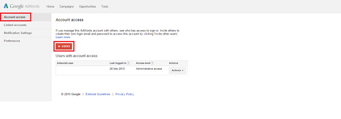 how to give access to an adwords account