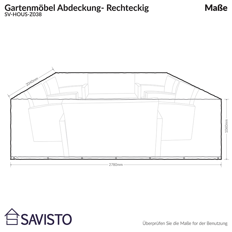 savisto gartenm bel abdeckung abdeckplane regenschutz. Black Bedroom Furniture Sets. Home Design Ideas