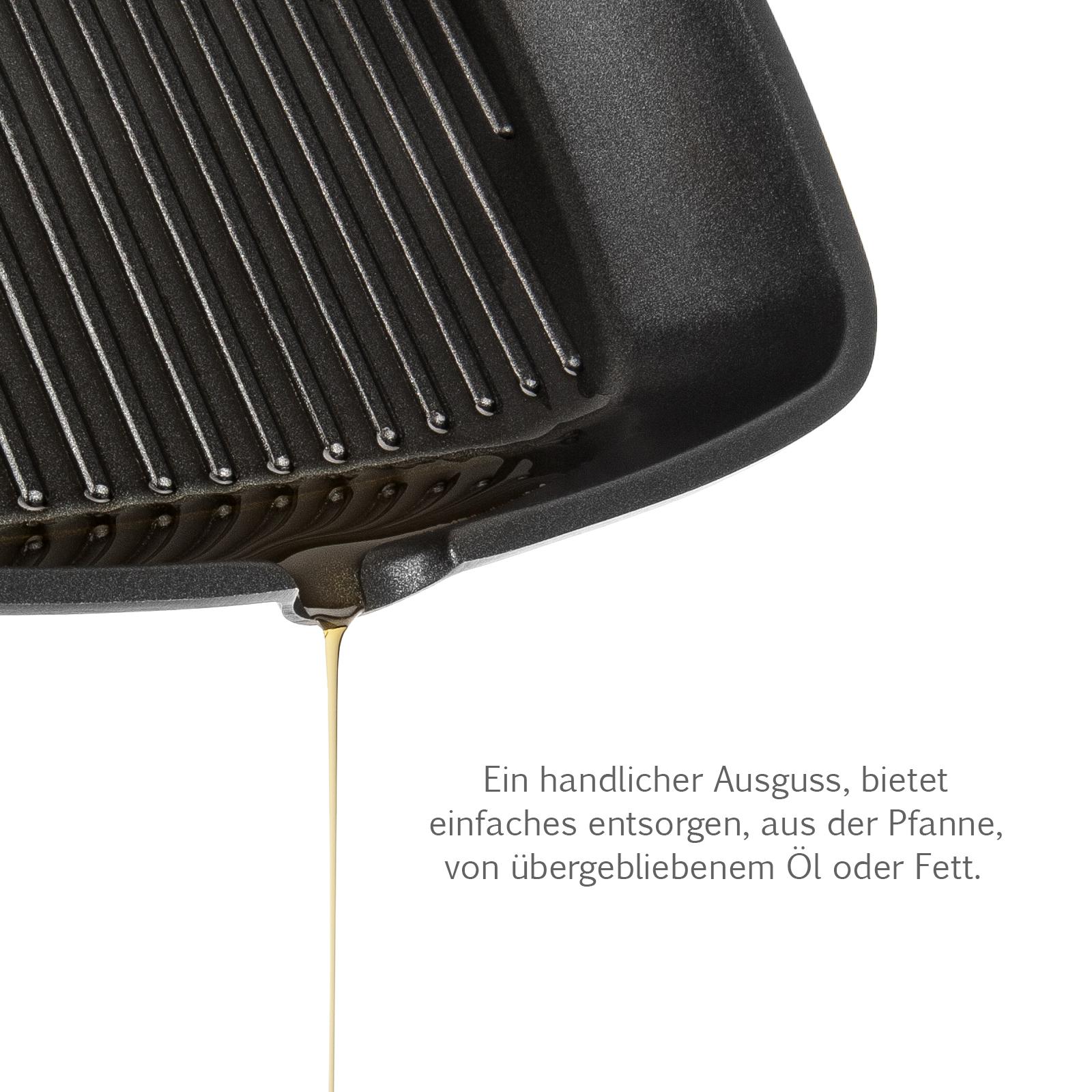 savisto 28cm gas induktion elektrische aluminium antihaft gusseisen grill pfanne ebay. Black Bedroom Furniture Sets. Home Design Ideas