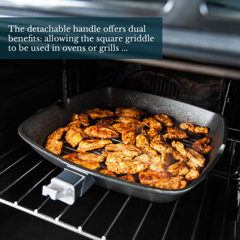 Induction Non-Stick Cast Aluminium Griddle Grill Pan for All Hobs Inc
