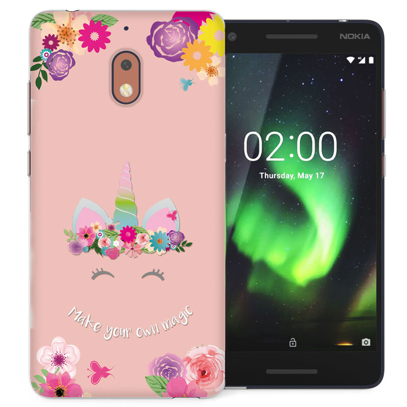 quality design bf01d f6cae Details about Nokia 2.1 Case, Unicorn Make Your Own Magic Pattern Thin  Protective Floral Cover