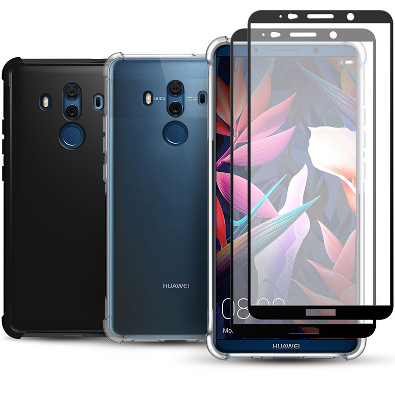 Details about Huawei Mate 10 Pro /10 Silicone Gel Case Cover & Tempered  Glass Screen Protector