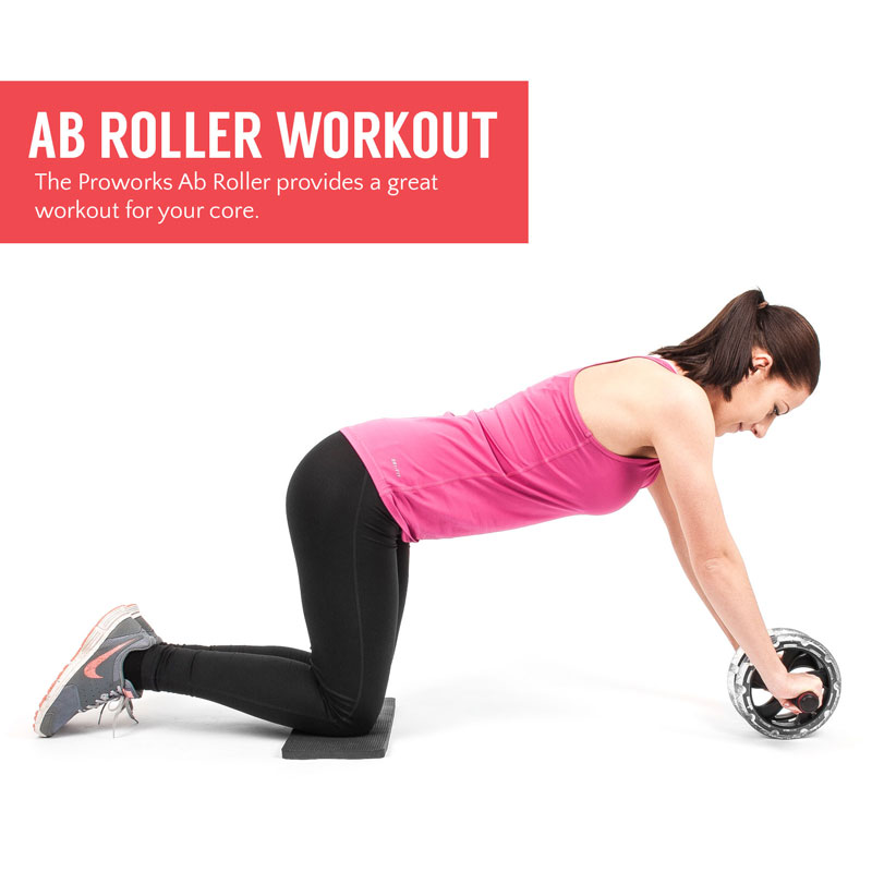 Proworks Ab Roller Exercise Wheel For Abdominal Core